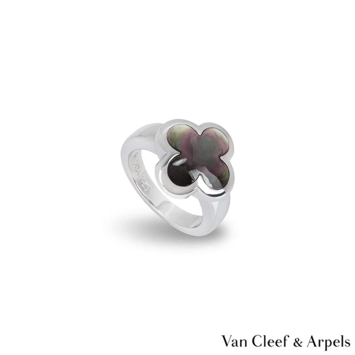 Van Cleef & Arpels White Gold Pure Alhambra Ring